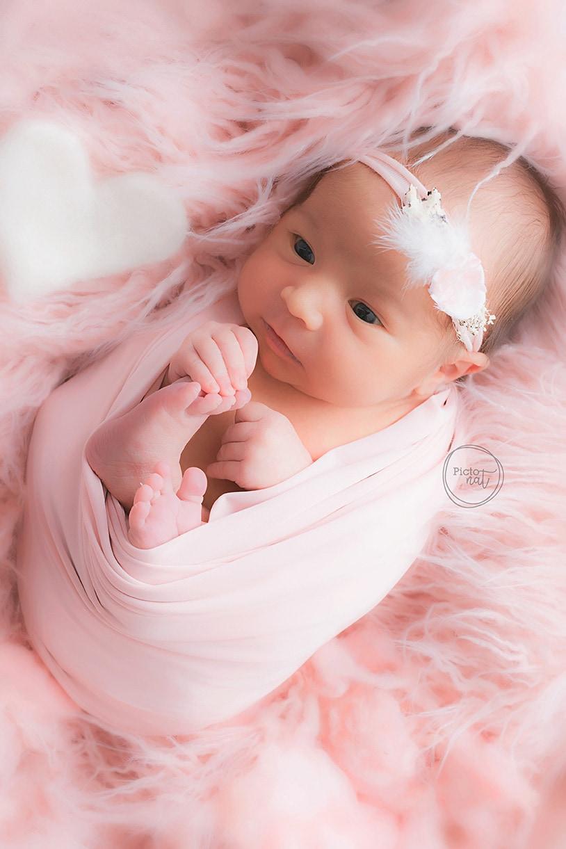 newborn girl pink